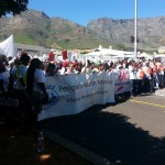 Peoples' Health Movement supporters during a TAC march 14 March 2014 in Cape Town
