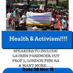 PHM Public Meeting on 'Health and Activism & Our 2015 AGM